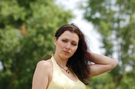 pretty blue-eyed brown-haired typical russian girl (crossprocessed colors) photo