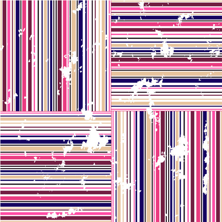 grungy seamless background of colorful lines Vector