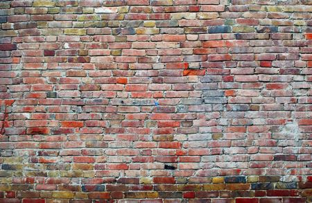 aged wall of red bricks background Stock Photo - 5628161