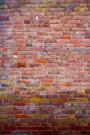 obsolete multicolored brick wall photo
