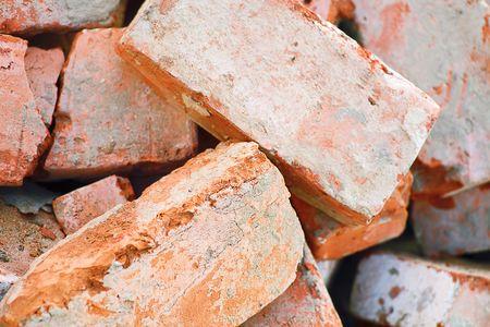 macro de ladrillos rojos obsoletos Foto de archivo - 6723307