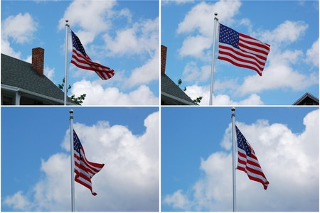 The US flag when cerebrating July Four day photo