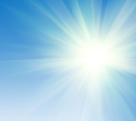 abstract blue sky and sun light background photo