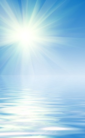 reflection of blue sky and clouds in pond Stock Photo - 7034040