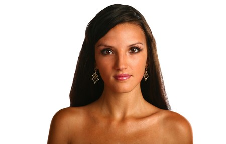 sexy brunette face Stock Photo - 7390808