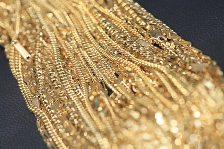 a lot of the solid gold chains Stock Photo - 7616725