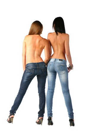 sexy brunette in jeans Stock Photo - 7873213