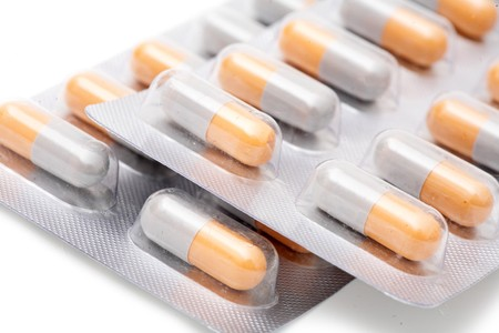 blister packs of pills isolated on the white background Stock Photo - 8026472