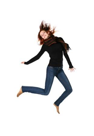 salto largo: Hermoso Redhead Girl Portrait  Foto de archivo