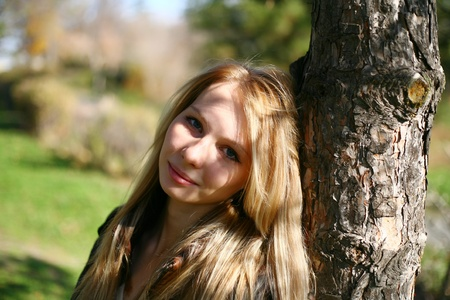 Young Model With Dark Hairs. Fall. Autumn Stock Photo - 8364474