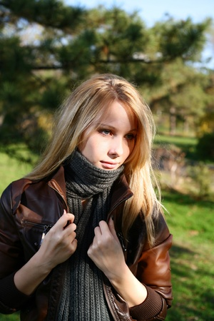 Young Model With Dark Hairs. Fall. Autumn Stock Photo - 8364466