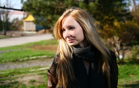 Young Model With Dark Hairs. Fall. Autumn Stock Photo - 8364458