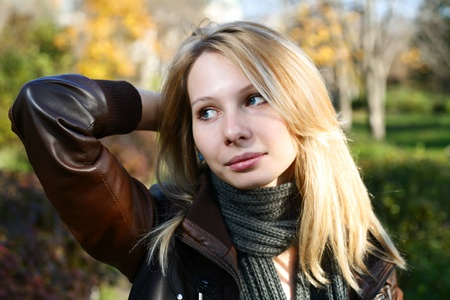 Young Model With Dark Hairs. Fall. Autumn Stock Photo - 8364460