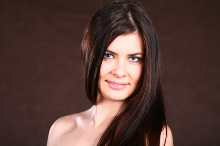 Brunette Woman With Healthy Hair photo