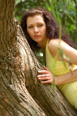 summer - beautiful female outdoors in the park Stock Photo - 8466338