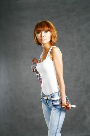 Beautiful Japanese Girl Stock Photo - 8471668