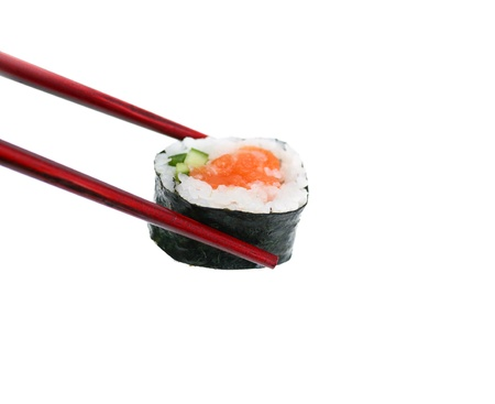 chopstick: Holding Sushi Stock Photo