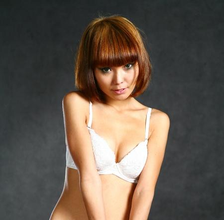 seminude: Bella ragazza giapponese Archivio Fotografico