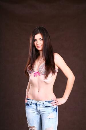 Cute Girl in top of bikini Stock Photo - 8704243