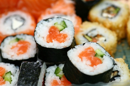 seafood platter: Sushi