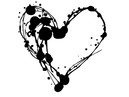 Heart.Set Of Blots And Stains. Vector