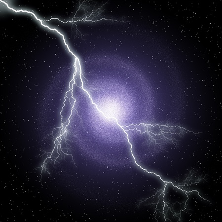 Night Sky and lightning Stock Photo - 9382581
