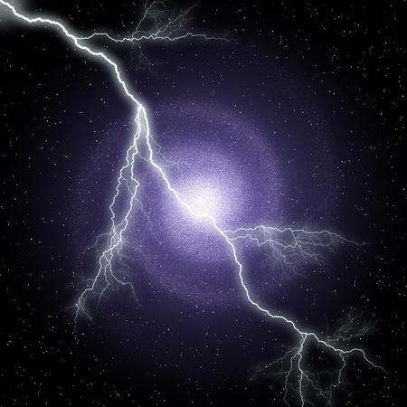 Night Sky and lightning Stock Photo - 9382581