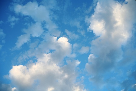 cloud scape: heaven - clouds and star in the blue sky