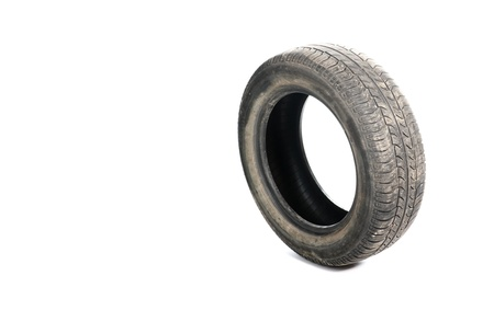 Car tyre isolated on pure white background Stock Photo - 9791888