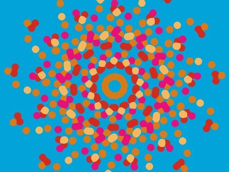 ornamental round mandala pattern in colors Stock Photo - 10414930