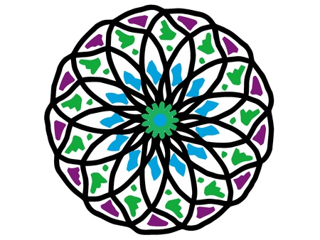 ornamental round mandala pattern in colors Stock Photo - 10414938