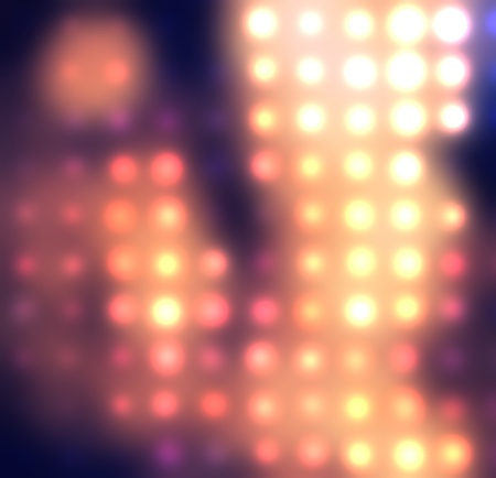 Dotted background of the colorful dots on the blured light Stock Photo - 10493755