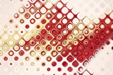 Red Dotted Graphics Layout of colorful spots Stock Photo - 10577281