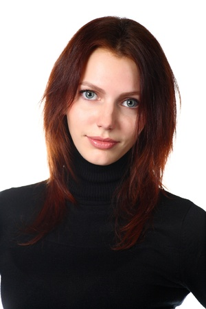 Beautiful Redhead Girl Portrait photo