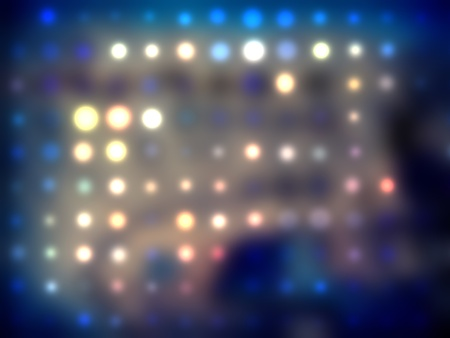 grungy dotted blurred background of colored lights