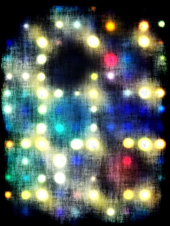 grungy dotted blurred background of colored lights Stock Photo - 11277970
