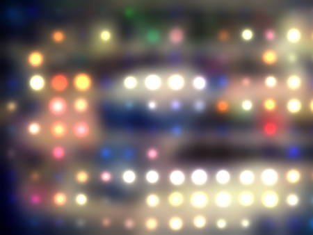 grungy dotted blurred background of colored lights photo