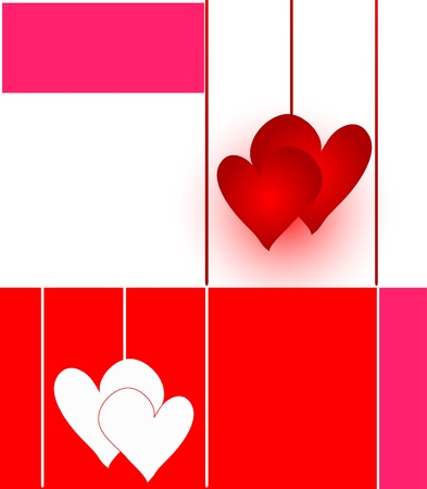 big and small couples of hearts illustration Stock Illustration - 11641361