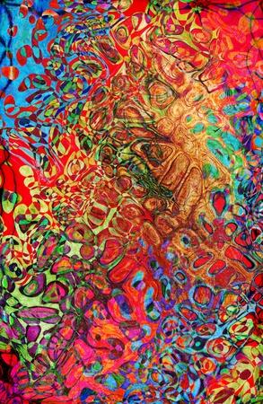 cubismo: Acuarela abstracta patrón. Ilustración generada por ordenador.