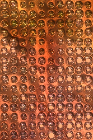 copper metal background cowered with dots Stock Photo - 12365716