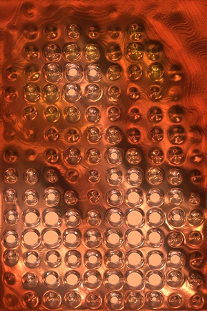copper metal background cowered with dots Stock Photo - 12365617