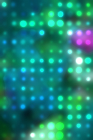 spot lit: painted background of green spots of light art background Stock Photo