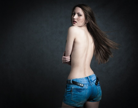 Beautiful Bare Back Female Stock Photo - 12666217