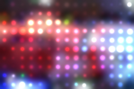illustration of blurred neon disco light dots pattern on dark background illustration