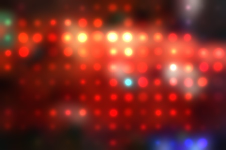 illustration of blurred neon disco light dots pattern on dark background Stock Illustration - 12742016