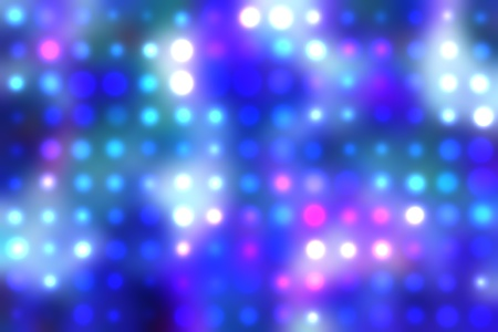 illustration of blurred neon disco light dots pattern on dark background Stock Illustration - 12741885