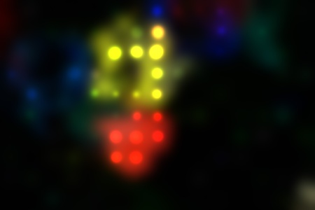 illustration of blurred neon disco light dots pattern on dark background Stock Illustration - 12742290