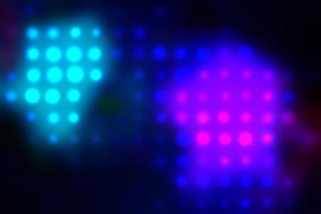 illustration of blurred neon disco light dots pattern on dark background Stock Illustration - 12742171