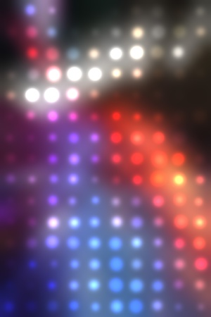 illustration of blurred neon disco light dots pattern on dark background Stock Illustration - 12857516