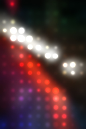 Decorative christmas background - defocused reflection of lights. Stock Photo - 12857588